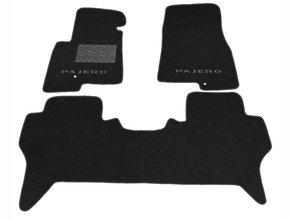Двухслойные коврики Sotra Custom Classic 7mm Black для Mitsubishi Pajero (mkIII)(5-дв.)(1-2 ряд) 1999-2006