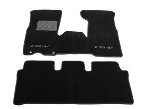 Двухслойные коврики Sotra Custom Classic 7mm Black для Honda CR-V (mkII) 2002-2006 с коробкой на руле