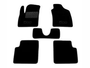 Двухслойные коврики Sotra Custom Classic 7mm Black для Fiat 500 (mkI) 2007→