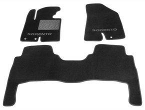 Двухслойные коврики Sotra Custom Classic 7mm Black для Kia Sorento (mkII)(1-2 ряд) 2009-2012