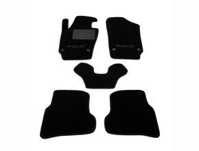 Двухслойные коврики Sotra Custom Classic 7mm Black для Volkswagen Polo (mkV)(хэтчбек) 2009-2017