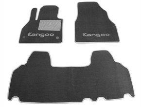 Двухслойные коврики Sotra Custom Classic 7mm Grey для Renault Kangoo (mkII)(1-2 ряд) 2008-2020