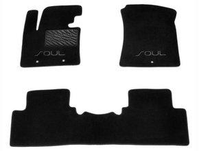 Двухслойные коврики Sotra Custom Classic 7mm Black для Kia Soul (mkII) 2014-2019