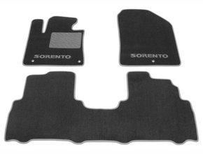 Двухслойные коврики Sotra Custom Classic 7mm Grey для Kia Sorento (mkIII) 2015-2020