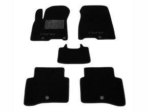 Двухслойные коврики Sotra Custom Classic 7mm Black для Kia Niro (mkI) 2016→