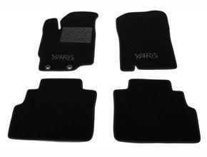 Двухслойные коврики Sotra Custom Classic 7mm Black для Toyota Yaris (mkIII) 2010-2020