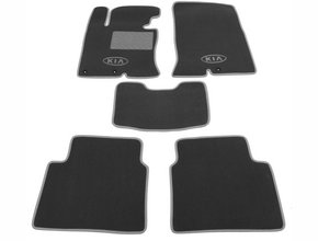 Двухслойные коврики Sotra Custom Classic 7mm Grey для Kia Optima (mkIII) 2010-2015 (EU)