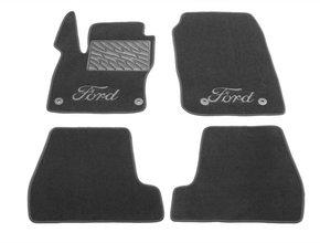 Двухслойные коврики Sotra Custom Classic 7mm Grey для Ford Focus (mkIII) 2015-2018