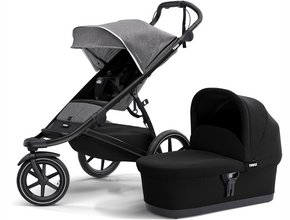 Детская коляска с люлькой Thule Urban Glide 2 (Grey Melange)
