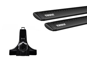 Багажник на водостоки (15см) Thule Wingbar Black (1.35 м)