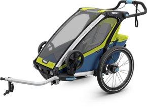 Детская коляска Thule Chariot Sport 1 (Chartreuse-Mykonos) - Фото 1