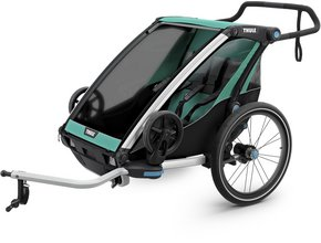 Детская коляска Thule Chariot Lite 2 (Blue Grass-Black)