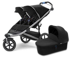 Детская коляска с люлькой Thule Urban Glide Double 2 (Jet Black)