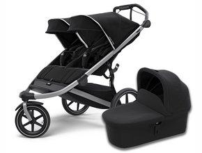 Детская коляска с люлькой Thule Urban Glide2 Double (Black)