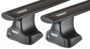 Багажник на гладкую крышу Thule Wingbar Black для Honda Accord (US)(sedan)(mkVIII) 2007-2012 - Фото 1