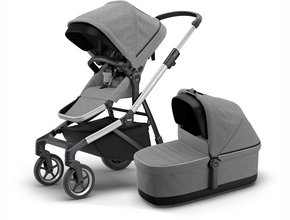 Детская коляска с люлькой Thule Sleek (Grey Melange)