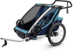 Детская коляска Thule Chariot Cross 2 (Blue-Poseidon)