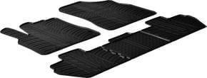 Резиновые коврики Gledring для Citroen Berlingo (mkII); Peugeot Partner (mkII) (1-2 ряд) 2008-2018 - Фото 1