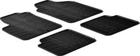 Резиновые коврики Gledring для Fiat 500 (mkI)(без клипс) 2007-2012 - Фото 1