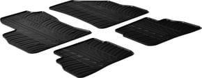 Резиновые коврики Gledring для Fiat Doblo (mkII)(1-2 ряд) 2010→; Opel Combo (mkIV)(D)(1-2 ряд) 2011-2017 - Фото 1