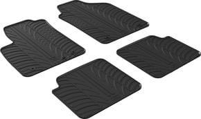 Резиновые коврики Gledring для Fiat 500 (mkI)(4 клипсы) 2013→ - Фото 1
