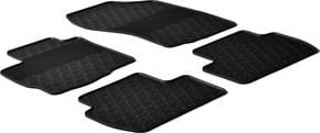 Резиновые коврики Gledring для Mitsubishi Outlander (mkII); Peugeot 4007 (mkI); Citroen C-Crosser (mkI) 2006-2012 - Фото 1
