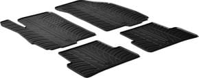 Резиновые коврики Gledring для Chevrolet Aveo (mkII) 2011→ - Фото 1