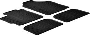 Резиновые коврики Gledring для Toyota Yaris (mkII) 2006-2011 / Urban Cruiser (mkI) 2009-2014 - Фото 1