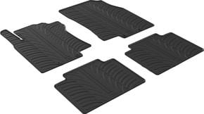 Резиновые коврики Gledring для Nissan X-Trail (mkIII) 2014→ - Фото 1