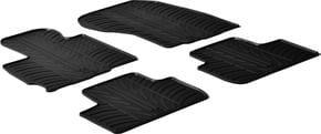 Резиновые коврики Gledring для Mitsubishi ASX (mkIII) 2010→; Citroen C4 Aircross (mkI); Peugeot 4008 (mkI) 2012-2017 - Фото 1