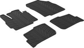 Резиновые коврики Gledring для Mitsubishi Mirage (mkVI) 2012→ - Фото 1