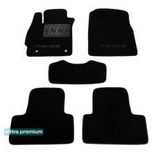 Двухслойные коврики Sotra Premium 10mm Black для Mazda CX-7 (mkI)(бензин) 2006-2012 - Фото 1