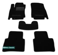Двухслойные коврики Sotra Classic 7mm Black для Nissan Tiida (mkI)(C11) 2005-2011