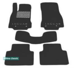 Двухслойные коврики Sotra Classic 7mm Grey для Jaguar XF (mkI-mkII)(4 люверса) 2008-2015