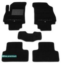 Двухслойные коврики Sotra Premium 10mm Black для Chevrolet Orlando (mkI)(1-2 ряд) 2010-2018