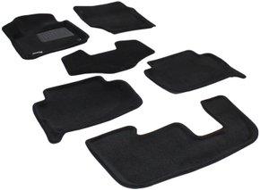 Трехслойные коврики Sotra 3D Premium 12mm Black для Audi Q7 (mkI)(1-2-3 ряд) 2006-2015