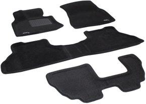 Трехслойные коврики Sotra 3D Premium 12mm Black для BMW X5 (E70)(1-2-3 ряд) 2007-2014