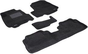 Трехслойные коврики Sotra 3D Premium 12mm Black для Honda CR-V (mkIII) 2006-2012