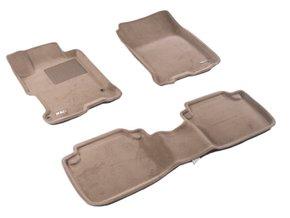 Трехслойные коврики Sotra 3D Premium 12mm Beige для Honda Accord (mkIX)(CR)(седан) 2012-2017