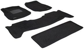 Трехслойные коврики Sotra 3D Premium 12mm Black для Lexus LX470 (J100) 1998-2007