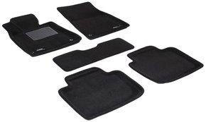 Трехслойные коврики Sotra 3D Premium 12mm Black для Lexus GS (mkIII)(задний привод) 2005-2010