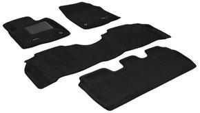 Трехслойные коврики Sotra 3D Premium 12mm Black для Lexus LX570 (J200)(1-2 ряд) 2007-2011
