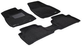 Трехслойные коврики Sotra 3D Premium 12mm Black для Lexus RX (mkII)(со сдвижным подлокотником) 2003-2008
