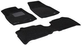 Трехслойные коврики Sotra 3D Premium 12mm Black для Lexus RX (mkII)(без сдвижного подлокотника) 2003-2008