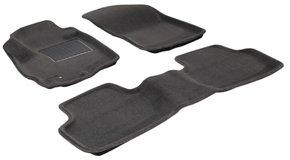 Трехслойные коврики Sotra 3D Premium 12mm Grey для Mitsubishi Outlander (mkII-mkIII) 2006-2021