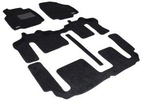 Трехслойные коврики Sotra 3D Classic 8mm Black для Mazda CX-9 (mkI)(1-2-3 ряд) 2007-2015
