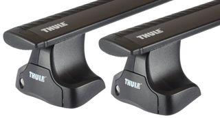 Багажник на гладкую крышу Thule Wingbar Black для Fiat Punto/Grande/Evo (mkIII) 2005→ - Фото 1