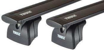 Багажник на интегрированные рейлинги Thule Wingbar Black для Hyundai Santa Fe (mkIV) 2018→