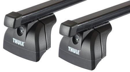 Багажник на интегрированные рейлинги Thule Squarebar для Ford Fiesta (Active)(mkVII) 2018→