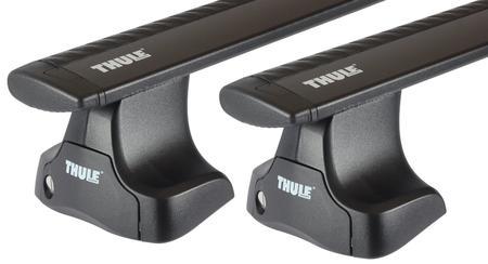 Багажник на гладкую крышу Thule Wingbar Black для Peugeot 3008/5008 (mkII) 2017→
